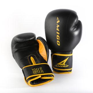 Боксерские перчатки Amigo Черные