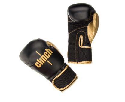 Боксерские Перчатки Clinch Aero Черно-Золотые