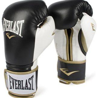 Боксерские перчатки Everlast Powerlock PU Черно-Белые