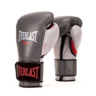 Боксерские перчатки Everlast Powerlock Серо-Красные