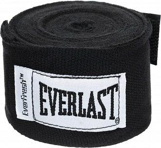 Боксерские Бинты Everlast Elastic 2,5 м Черные