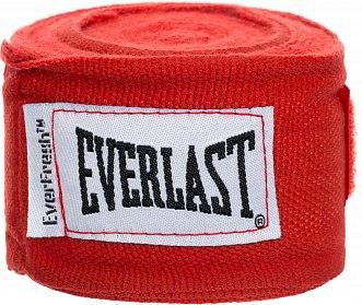 Боксерские Бинты Everlast Elastic 3,5 м Красные