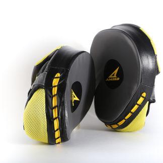 Боксерские Лапы Amigo Training Черно-Желтые.