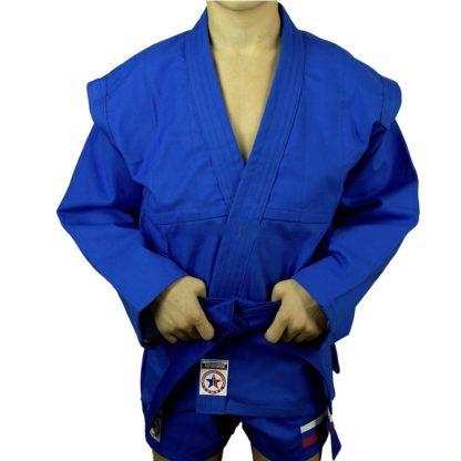 Куртка Для Самбо  Детская Синяя