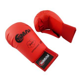 Накладки Для Каратэ EKF WKF SMAI С Защитой Пальца Красные