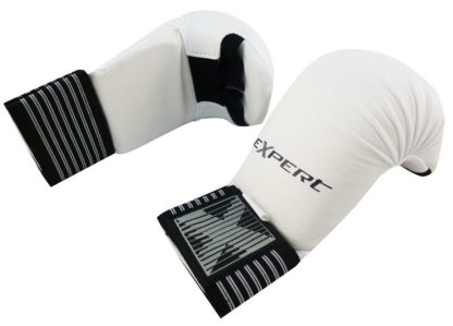 Накладки Для Каратэ EXPERT WKF Без Защиты Пальца Белые