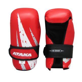 Перчатки Для Тхэквондо ATAKA Carbon Красные