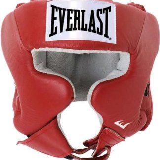 Шлем боксерский Everlast USA Boxing Красный.