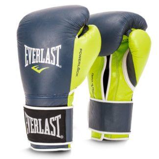 Боксерские Перчатки Everlast Powerlock Сине-Зеленые