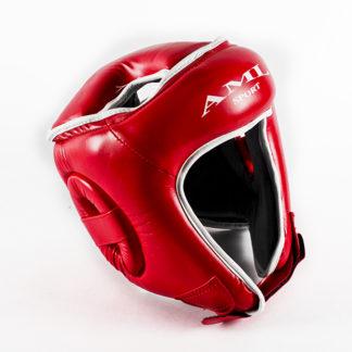 Боксерский Шлем AML С Закрытым Верхом Красного Цвета