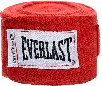Боксерские Бинты Everlast Elastic 2,5 м Красные