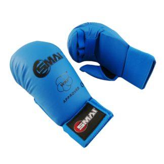 Накладки Для Каратэ EKF WKF SMAI С Защитой Пальца Синие
