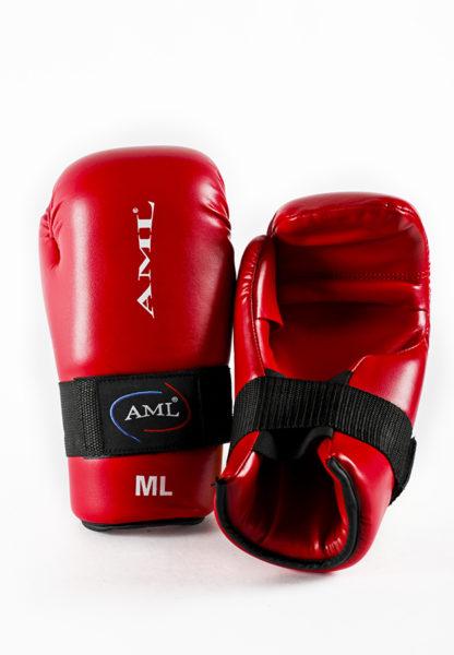 Перчатки С Открытой Ладонью AML-Sport Open Hand (ITF) - Красные