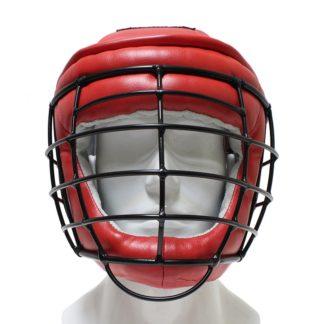 Шлем С Маской Для Армейского Рукопашного Боя, Красный