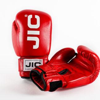 Боксерские перчатки Jic Кожаные Красные